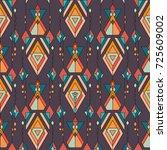 vector tribal vintage ethnic... | Shutterstock .eps vector #725609002