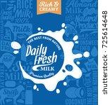 vector milk logo | Shutterstock .eps vector #725614648