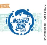 vector milk logo. milk  yogurt  ... | Shutterstock .eps vector #725614672