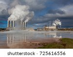 geothermal power plant located...
