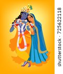 illustration of hindu goddess... | Shutterstock .eps vector #725622118