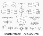 banners  vintage elements and... | Shutterstock .eps vector #725622298
