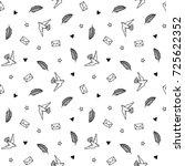 hand drawn minimalistic black... | Shutterstock .eps vector #725622352