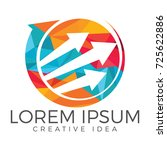 business abstract logo design.... | Shutterstock .eps vector #725622886