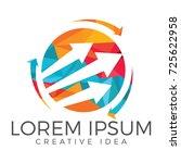 business abstract logo design.... | Shutterstock .eps vector #725622958
