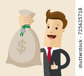 businessman with big bag with...   Shutterstock .eps vector #725625718