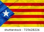 waving estelada blava flag of... | Shutterstock . vector #725628226
