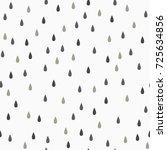 seamless  rain drops pattern.... | Shutterstock .eps vector #725634856