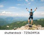 active young amn gesture... | Shutterstock . vector #725634916