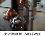 oriental turkish delight cup  ... | Shutterstock . vector #725636995