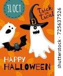 halloween design. invitation or ... | Shutterstock .eps vector #725637526