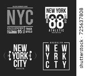 new york  brooklyn typography...   Shutterstock .eps vector #725637808
