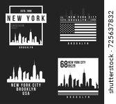 new york  brooklyn typography... | Shutterstock .eps vector #725637832