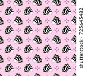 cute kids pattern for girls and ... | Shutterstock . vector #725645482