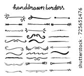 collection of handdrawn borders ...   Shutterstock .eps vector #725651476