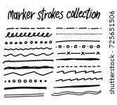 collection of handdrawn borders ...   Shutterstock .eps vector #725651506