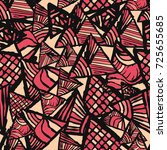 retro geometric  shapes... | Shutterstock .eps vector #725655685