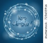 christmas wreath. snowfall ...   Shutterstock .eps vector #725655916