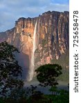 stunning view to angel falls in ... | Shutterstock . vector #725658478
