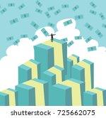 metaphor   the man at top of... | Shutterstock .eps vector #725662075