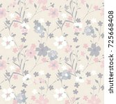 vintage flowery pattern.... | Shutterstock .eps vector #725668408