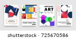 covers templates set with... | Shutterstock .eps vector #725670586