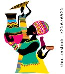 abstract african art  tribal...   Shutterstock .eps vector #725676925