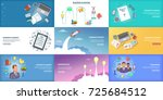 business banner set template.... | Shutterstock .eps vector #725684512