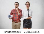 worried clunky male architect... | Shutterstock . vector #725688316
