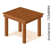 vector wooden table | Shutterstock .eps vector #72568984