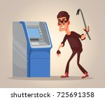 thief man character steals... | Shutterstock .eps vector #725691358