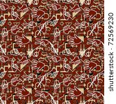 seamless pattern with hand... | Shutterstock . vector #72569230