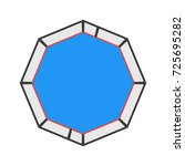mma octagon cage isolated. flat ... | Shutterstock .eps vector #725695282
