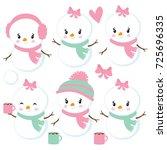 snowman | Shutterstock .eps vector #725696335
