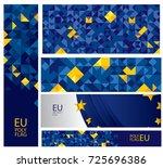 abstract europe flag  european... | Shutterstock .eps vector #725696386