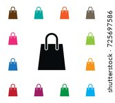 isolated shopping bag icon.... | Shutterstock .eps vector #725697586