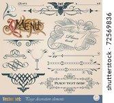 vector set  calligraphic design ... | Shutterstock .eps vector #72569836