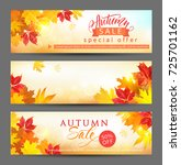 autumn sale banners with... | Shutterstock .eps vector #725701162
