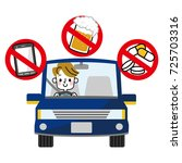safe drive. traffic rules. | Shutterstock .eps vector #725703316