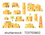 flat design arab mud houses... | Shutterstock .eps vector #725703802