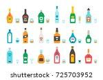 flat design liquor bottles and... | Shutterstock .eps vector #725703952