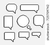pixel art speech cloud vector... | Shutterstock .eps vector #725709742