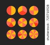 circle segments vector wheel... | Shutterstock .eps vector #725710528