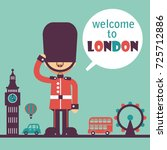 welcome to london background.... | Shutterstock .eps vector #725712886
