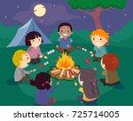 illustration of stickman kids... | Shutterstock .eps vector #725714005