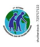 international day of older... | Shutterstock .eps vector #725717122