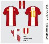 soccer jersey or football kit ... | Shutterstock .eps vector #725720146