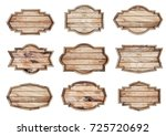 wood sign isolated on white... | Shutterstock . vector #725720692