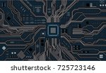 vector eps10.circuit board.... | Shutterstock .eps vector #725723146