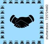 handshake vector icon | Shutterstock .eps vector #725724682